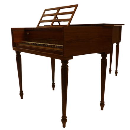 John Morley Single Manual Harpsichord Walnut (Franco-Flemish) NEW